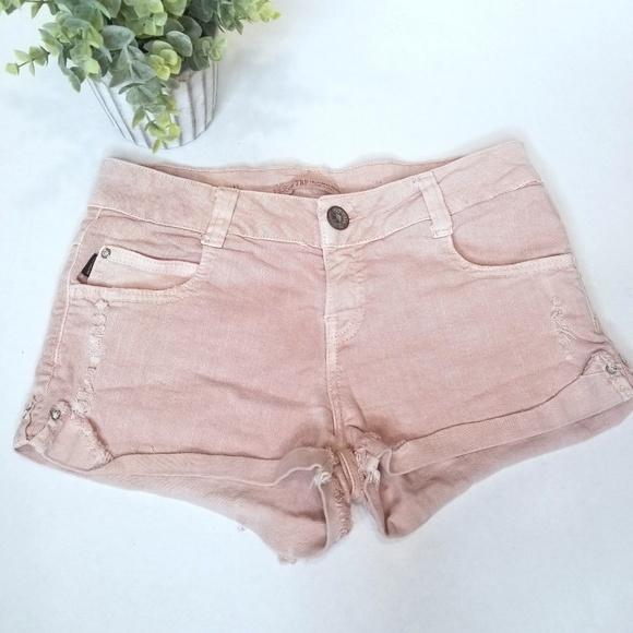 f9c6a847b0 Zara Shorts | Trf Pink Denim Cutoff 2 | Poshmark